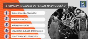 Cinco principais causas de perdas na produção